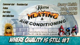 Logo, Keith Heating & Air Conditioning Inc. - HVAC Services